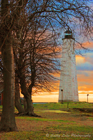 Lighthouse Sunset - Vertical
